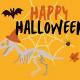 illustration de l'événement halloween du 31 octobre à paleopolis la colline aux dinosaures
